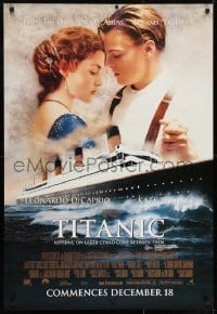 7f050 TITANIC advance Aust 1sh 1997 Leonardo DiCaprio, Kate Winslet, directed by James Cameron!