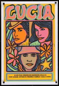 7f055 LUCIA silkscreen Cuban R1990s Cuban, Humberto Solas, great colorful artwork!