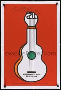 7f060 QUE LEVANTE LA MANO LA GUITARRA stage play silkscreen Cuban R1990s Coni art of guitar/fist!