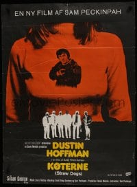 7f002 STRAW DOGS Danish 1972 directed by Sam Peckinpah, Dustin Hoffman, Ferracci art!