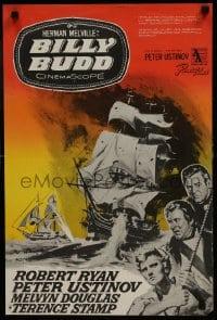 7f025 BILLY BUDD Finnish 1963 completely different art of ship at sea by Witold Janowski!