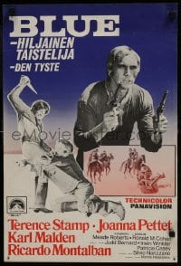 7f026 BLUE Finnish 1968 gunfighter Terence Stamp is a hero, renegade, killer & lover!