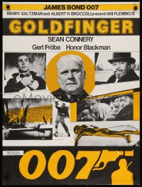 7f017 GOLDFINGER Swiss R1970s cool different image of Sean Connery as James Bond 007!
