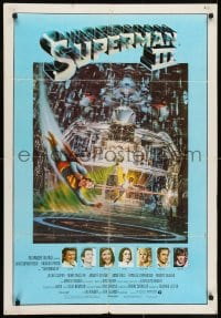 7f008 SUPERMAN III Venezuelan 1983 art of Christopher Reeve flying & Richard Pryor by Berkey!