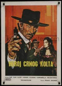 7f039 RETURN OF SABATA Yugoslavian 20x28 1971 cool Colizzi artwork of Lee Van Cleef with pistol!