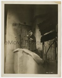 7h047 7TH HEAVEN 8x10.25 still 1927 great image of Janet Gaynor on stairs of old building!