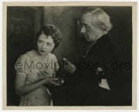 7h046 7TH HEAVEN 8.25x10 still 1927 close up of pretty Janet Gaynor & priest Emile Chautard!