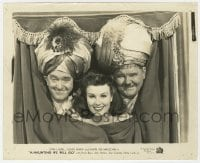 7h060 A-HAUNTING WE WILL GO 8.25x10 still 1942 Sheila Ryan between Stan Laurel & Oliver Hardy!
