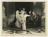 7h051 ADORABLE 8x10 still 1933 Henry Garat holds pretty Janet Gaynor up in the air!