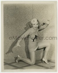 7h052 ADRIENNE DORE 8x10.25 still 1930s great posed portrait wearing sweater & showing her legs!