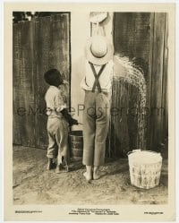 7h057 ADVENTURES OF TOM SAWYER 8x10.25 still 1938 Tommy Kelly & Philip Hurlic white washing fence!