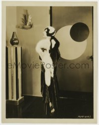 7h061 AILEEN PRINGLE 8x10.25 still 1928 in wild satin costume with black & white fox skins!