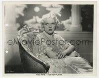 7h063 ALICE FAYE 8x10 still 1935 seated portrait of the Fox sunshine blonde by Otto Dyar!