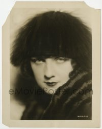 7h064 ALICE TERRY 8x10.25 still 1924 head & shoulders portrait in fur coat & hat from The Arab!