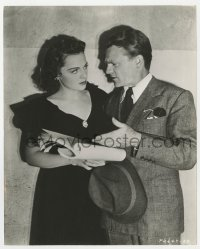 7h067 ALL WOMEN HAVE SECRETS candid 7.75x9.5 still 1939 visitor James Cagney gives advice to sister!