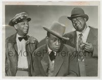 7h071 AMOS 'n' ANDY TV 7x9 still 1952 Alvin Childress & Spencer Williams with Tim Moore as Kingfish!