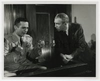 7h072 ANATOMY OF A MURDER 8x10 still 1959 James Stewart questioning Ben Gazzara by St. Hilaire!