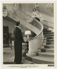 7h075 AND NOW TOMORROW 8x10 key book still 1944 Barry Sullizan watches Loretta Young on stairs!