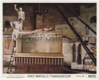 7h002 ANDY WARHOL'S FRANKENSTEIN 8x10 mini LC #7 1974 great image of Udo Kier with body over tank!