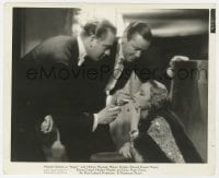 7h076 ANGEL 8.25x10 still 1937 Herbert Marshall & Douglas both light Marlene Dietrich's cigarette!