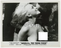 7h077 ANGELICA THE YOUNG VIXEN 8x10.25 still 1970 close up of smiling topless blonde beauty!