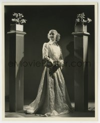 7h080 ANITA LOUISE 8.25x10 still 1936 in silvery metal cloth between pillars by Welbourne!