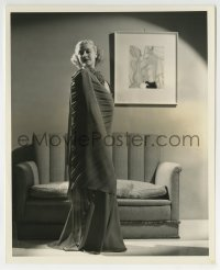 7h079 ANITA LOUISE 8.25x10 still 1936 in charming evening gown of beauty crepe by Welbourne!