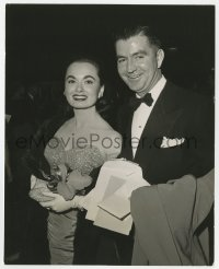 7h082 ANN BLYTH 7.5x9.5 still 1953 with fiance Dr. James McNulty announcing their summer wedding!