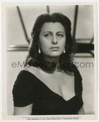 7h086 ANNA MAGNANI 8.25x10 still 1956 Bud Fraker portrait of the worried Italian actress!