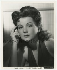7h088 ANNE BAXTER 8.25x10 still 1930s close portrait of the pretty Fox actress by Frank Powolny!