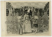 7h098 BABES IN THE WOODS 8x11 key book still 1917 Hansel & Gretel w/ witch at gingerbread house!
