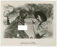 7h099 BABOONA 8.25x10 still R1940s Osa Johnson shows compact to topless African native woman!