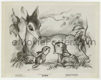 7h107 BAMBI 8x10 still 1942 Walt Disney cartoon deer classic, great image as a fawn with mother!
