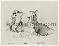 7h106 BAMBI 8x10 still 1942 Disney classic, Thumper finds romance with another rabbit!