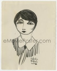 7h113 BEBE DANIELS 8x10 still 1930s cool caricature art by newspaper cartoonist Malcolm St. Clair!