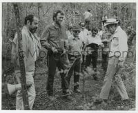 7h118 BEGUILED candid 8x9 key book still 1971 Clint Eastwood & Don Siegel on location in Louisiana!