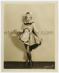 7h123 BESSIE LOVE 8x10.25 still 1920s full-length MGM studio portrait modeling a sexy maid outfit!