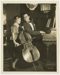 7h124 BEST OF ENEMIES 8x10.25 still 1933 Buddy Rogers in duet with Marion Nixon playing cello!