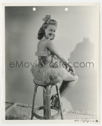 7h130 BETTY GRABLE 8.25x10 still 1941 adorable posed winking portrait sitting on stool!