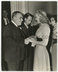 7h129 BETTY GRABLE 7.75x9.5 still 1937 congratulated by her father at wedding to Jackie Coogan!