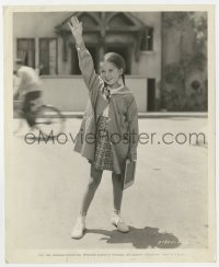 7h135 BIG BROADCAST OF 1937 candid 8x10 still 1936 Virginia Weidler gets ready to go back to school!