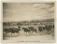 7h140 BIG TRAIL 8x10.25 still 1930 great image of horses & cattle crossing a wide river!