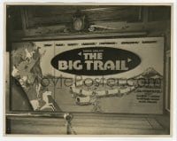 7h139 BIG TRAIL 7.75x9.75 still 1930 incredible giant artwork local theater poster inside lobby!