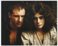 7h003 BLADE RUNNER color 8x10 still 1982 great close portrait of Harrison Ford & Sean Young!