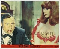 7h004 BLAZING SADDLES 8x10 mini LC #4 1974 Governor Mel Brooks & sexy secretary Robyn Hilton!