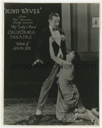 7h148 BLIND WIVES 7.5x9.5 still 1920 Marc McDermott & Estelle Taylor in the famous stage success!