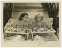 7h152 BLONDIE OF THE FOLLIES 8x10.25 still 1932 c/u of Marion Davies & Billie Dove eating in bed!