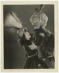7h154 BLUEBEARD'S 8th WIFE 8x10 still 1923 close up of Gloria Swanson struggling with bearded man!