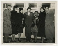 7h156 BOB HOPE/ROBERT MONTGOMERY/LORETTA YOUNG 6.5x8.5 news photo 1947 at Royal Command Performance