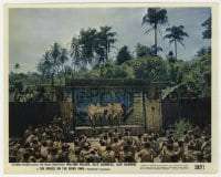 7h007 BRIDGE ON THE RIVER KWAI color 8x10 still 1958 prisoners entertained by men in drag!